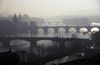 Czech Republic - Prague: four bridges and the Vltava - at dusk (photo by M.Gunselman)