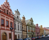 Czech Republic - Hradec Kralove: colorful houses on the main square - photo by J.Kaman