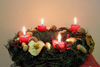 Czech Republic - Christmas wreath with candles - photo by J.Kaman