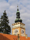 Czech Republic - Mikulov: tower of St Wenceslas Church - photo by J.Kaman
