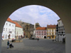 Czech Republic - Mikulov (Southern Moravia - Breclav district): the historic town square - photo by J.Kaman