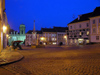 Czech Republic - Mikulov (Southern Moravia - Breclav district): Town Square - nocturnal II - photo by J.Kaman