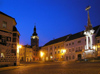 Czech Republic - Mikulov: Trinity column - Town square - nocturnal - photo by J.Kaman