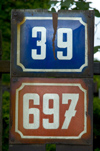 Czech Republic - Prague / Praha (Bohemia) / PRG:  numbers - door number (photo by P.Gustafson)