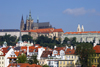 Prague Castle and St. Vitus Cathedral as seen from Charles IV Bridge. Prague, Czech Republic - photo by H.Olarte
