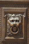 Lion head door knocker. Prague, Czech Republic - photo by H.Olarte