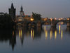 Prague, Czech Republic: Charles bridge at dawn - photo by J.Kaman
