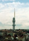 Czech Republic - Prague / Praha : Television tower (on Fibichova st., Vinohrady) (photo by Miguel Torres)