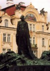 Czech Republic - Prague / Praha : Jan Hus monument on Staromestke square (photo by Miguel Torres)