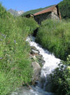 Russia - Dagestan / Daghstan - Tsumada rayon: turrent and water mill (photo by G.Khalilullaev)