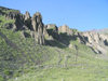 Russia - Dagestan - Tsumada rayon: erosion - mountains - rocks (photo by G.Khalilullaev)
