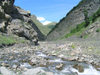 Russia - Dagestan - Tsumada rayon: canyon - river - Caucasus mountains (photo by G.Khalilullaev)