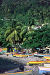 Dominica: quiet day on a fishermen's beach - photo by S.Young