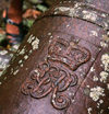 Dominica - Royal monogram on a British cannon - photo by G.Frysinger