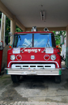 Higüey, Dominican Republic: old Ford fire engine - fire department - bomberos - photo by M.Torres
