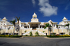 Punta Cana, Dominican Republic: Riu Palace Hotel - mock Colonial style architecture - Arena Gorda Beach - photo by M.Torres