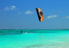 Punta Cana, Dominican Republic: kite surfer - Arena Gorda Beach - photo by M.Torres