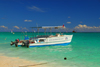 Punta Cana, Dominican Republic: scuba divers' boat - Arena Gorda Beach - photo by M.Torres