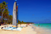 Punta Cana, Dominican Republic: catamarans wait for the tourists - Arena Gorda Beach - photo by M.Torres