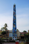 La Romana, Dominican Republic: decorated obelisk - photo by M.Torres