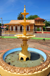 Monte Cristi, Dominican Republic: one of four fountains on Plaza Duarte - photo by M.Torres