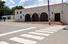 Monte Cristi, Dominican Republic: the city's Museu - pedestrian crossing - photo by M.Torres