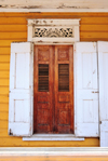 Monte Cristi, Dominican Republic: Creole architecture - door - photo by M.Torres