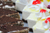 R�o San Juan, Mar�a Trinidad S�nchez province, Dominican republic: slices of tiramisu and meringue cake - photo by M.Torres