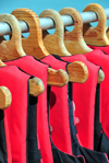R�o San Juan, Mar�a Trinidad S�nchez province, Dominican republic: life jackets at a scuba diving school - photo by M.Torres