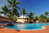 R�o San Juan, Mar�a Trinidad S�nchez province, Dominican republic: pool surrounded by coconut trees, at an all-inclusive hotel - photo by M.Torres