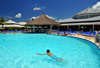 R�o San Juan, Mar�a Trinidad S�nchez province, Dominican republic: pool and pool bar at the Bahia Principe resort - photo by M.Torres