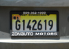 Santo Domingo, Dominican Republic: Dominican car license plate - photo by M.Torres