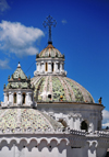 Quito, Ecuador: tiled domes of the Iglesia de la Compa�ia, seen from Plaza San Francisco - photo by M.Torres