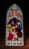Quito, Ecuador: Christ Washing the Feet of the Apostles - paedalavium - stained glass at the Basílica del Sagrado Voto Nacional - photo by M.Torres