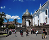 Quito, Ecuador: Catedral Metropolitana - Metropolitan Cathedral - south side of the Plaza de La Independencia / Plaza Grande - photo by M.Torres