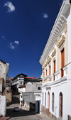 Quito, Ecuador: sunny fa�ade on Calle Guayaquil - La Ronda district - photo by M.Torres