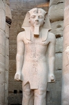 Egypt - Luxor: statue in the temple (photo by J.Kaman)