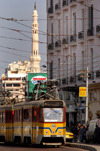Egypt - Alexandria: tram and minaret (photo by John Wreford)