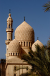 Egypt - Alexandria:  Abu Abbas al Mursi mosque - elegant domes (photo by John Wreford)