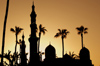 Egypt - Alexandria:  Abu Abbas al Mursi mosque - domes and minarets (photo by John Wreford)