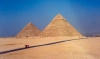 Egypt - Gizah / Al Jizah : Keops and Kephren pyramids / al-Ahram (photo by Miguel Torres)