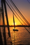 Egypt - Luxor:  felucca at sunset II (photo by J.Wreford)