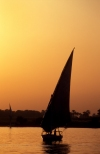 Egypt - Luxor:  felucca at sunset (photo by J.Wreford)