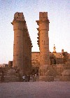 Egypt - Luxor: in between columns (photo by Miguel Torres)