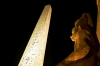 Egypt - Luxor: obelisk and Ramses II at night (photo by J.Kaman)