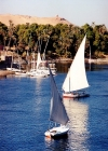 Egypt - Aswan: feluccas sailing on the Nile (photo by J.Kaman)