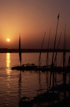 Egypt - Aswan: sunset over the river Nile (photo by J.Kaman)