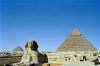 Egypt - Giza: the Sphinx and the pyramids of Giza (photo by J.Kaman)