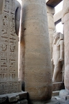 Egypt - Luxor: hieroglyphs and heavy column in the temple (photo by J.Kaman)