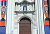 San Salvador, El Salvador, Central America: Metropolitan Cathedral - entrance with a shrine of the Divine Saviour of the World, sculpted by Friar Francisco Silvestre Garc�a - photo by M.Torres